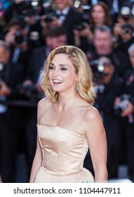 CANNES, FRANCE - MAY 11, 2018: Julie Gayet attends the screening of 'Ash Is The Purest White (Jiang Hu Er Nv)' during the 71st annual Cannes Film Festival at Palais des Festivals