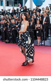 CANNES, FRANCE - MAY 11, 2018: Zabou Breitman attends the screening of 'Ash Is The Purest White (Jiang Hu Er Nv)' during the 71st annual Cannes Film Festival