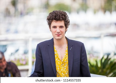 CANNES, FRANCE - MAY 11, 2018: Actor Vincent Lacoste attends the photocall for 'Sorry Angel (Plaire, Aimer Et Courir Vite)' during the 71st annual Cannes Film Festival