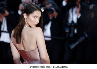 CANNES, FRANCE - MAY 11: Bella Hadid attends the premiere of 'Ash Is Purest White' during the 71st Cannes Film Festival in Cannes, France on May 11, 2018.