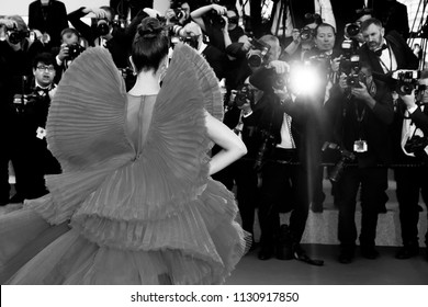 CANNES, FRANCE - MAY 11: Deepika Padukone attends the premiere of 'Ash Is Purest White' during the 71st Cannes Film Festival in Cannes, France on May 11, 2018.