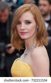 CANNES, FRANCE - MAY 11: Jessica Chastain attends the 'Cafe Society' premiere and the Opening Night Gala. 69th annual Cannes Film Festival at the Palais des Festivals on May 11, 2016 in Cannes