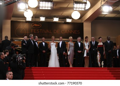 CANNES, FRANCE - MAY 11:  Jury members  and Robert De Niro, attend the Opening Ceremony and 'Midnight In Paris' Premiere at the Palais during the 64 Cannes  Festival on May 11, 2011 in Cannes, France