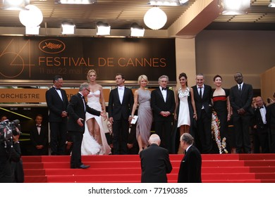 CANNES, FRANCE - MAY 11:  Jury members and Robert De Niro, attend the Opening Ceremony and 'Midnight In Paris' Premiere at the Palais during the 64th Cannes  Festival on May 11, 2011 in Cannes, France