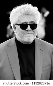 CANNES, FRANCE - MAY 11: Pedro Almodovar attends the premiere of 'Ash Is Purest White' during the 71st Cannes Film Festival in Cannes, France on May 11, 2018.