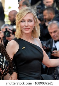 """CANNES, FRANCE. May 12, 2018: Cate Blanchett at the gala screening for """"Girls of the Sun"""" at the 71st Festival de Cannes"""