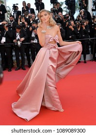 "CANNES, FRANCE. May 12, 2018: Elsa Hosk at the gala screening for ""Girls of the Sun"" at the 71st Festival de Cannes"