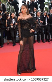 "CANNES, FRANCE. May 12, 2018: Joan Smalls at the gala screening for ""Girls of the Sun"" at the 71st Festival de Cannes"