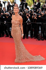 "CANNES, FRANCE. May 12, 2018: Hailey Baldwin at the gala screening for ""Girls of the Sun"" at the 71st Festival de Cannes"
