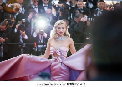 CANNES, FRANCE - MAY 12, 2018: Elsa Hosk attends the screening of 'Girls Of The Sun (Les Filles Du Soleil)' during the 71st annual Cannes Film Festival at Palais des Festivals