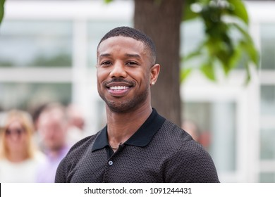 CANNES, FRANCE - MAY 12, 2018:  Michael B. Jordan attends the photocall for the 'Farenheit 451' during the 71st annual Cannes Film Festival