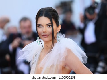 CANNES, FRANCE - MAY 12, 2018: Kendall Jenner attends the screening of 'Girls Of The Sun (Les Filles Du Soleil)' during the 71st annual Cannes Film Festival at Palais des Festivals