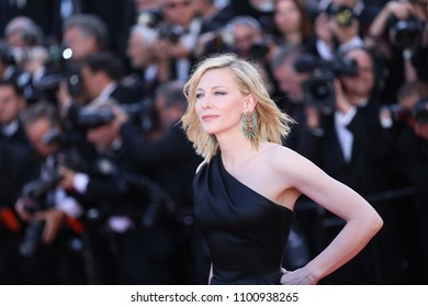 CANNES, FRANCE - MAY 12, 2018: Cate Blanchett attends the screening of 'Girls Of The Sun (Les Filles Du Soleil)' during the 71st annual Cannes Film Festival at Palais des Festivals