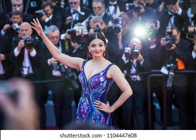 CANNES, FRANCE - MAY 12, 2018:  Aishwarya Rai attends the screening of 'Girls Of The Sun (Les Filles Du Soleil)' during the 71st annual Cannes Film Festival