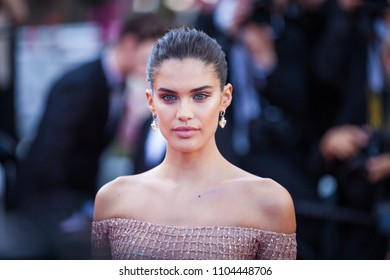 CANNES, FRANCE - MAY 12, 2018: Sara Sampaio attends the screening of 'Girls Of The Sun (Les Filles Du Soleil)' during the 71st annual Cannes Film Festival