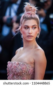 CANNES, FRANCE - MAY 12, 2018: Hailey Baldwin attends the screening of 'Girls Of The Sun (Les Filles Du Soleil)' during the 71st annual Cannes Film Festival