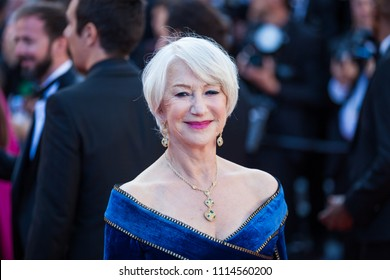CANNES, FRANCE - MAY 12, 2018: Helen Mirren attends the screening of 'Girls Of The Sun (Les Filles Du Soleil)' during the 71st annual Cannes Film Festival