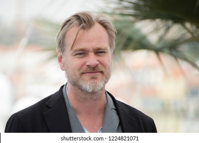 Cannes, France, May 12, 2018, Christopher Nolan attends the' Rendez vous With Christopher Nolan' photocall during the 71st annual Cannes Film Festival at Palais des Festivals