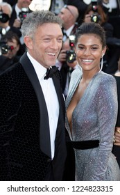 Cannes, France, May 12, 2018, Vincent Cassel Tina Kunakey, attends the screening of 'Girls Of The Sun (Les Filles Du Soleil)' during the 71st annual Cannes Film Festival at Palais des Festivals.