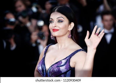 CANNES, FRANCE - MAY 12: Aishwarya Rai attends the screening of 'Girls Of The Sun' during the 71st Cannes Film Festival on May 12, 2018 in Cannes, France.
