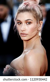 CANNES, FRANCE - MAY 12: Hailey Baldwin attends the screening of 'Girls Of The Sun' during the 71st Cannes Film Festival on May 12, 2018 in Cannes, France.