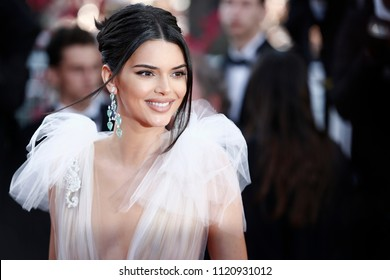 CANNES, FRANCE - MAY 12: Kendall Jenner attends the screening of 'Girls Of The Sun' during the 71st Cannes Film Festival on May 12, 2018 in Cannes, France.