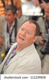 """CANNES, FRANCE - MAY 13, 2009: John Lasseter at photocall for his new movie """"Up"""" which is the opening movie for the 2009 Cannes Film Festival."""