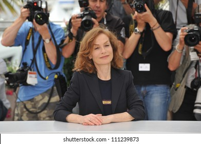 CANNES, FRANCE - MAY 13, 2009: Cannes Jury president Isabelle Huppert at the Jury photocall at the 62nd Festival de Cannes.