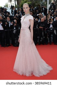 CANNES, FRANCE - MAY 13, 2015: Tanya Dziahileva at the gala opening ceremony of the 68th Festival de Cannes.