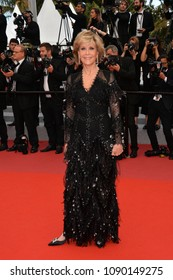 """CANNES, FRANCE. May 13, 2018: Jane Fonda at the gala screening for """"Sink or Swim"""" at the 71st Festival de Cannes"""