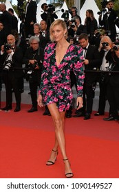 "CANNES, FRANCE. May 13, 2018: Anja Rubik at the gala screening for ""Sink or Swim"" at the 71st Festival de Cannes"