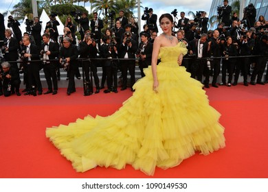 "CANNES, FRANCE. May 13, 2018: Araya A. Hargate at the gala screening for ""Sink or Swim"" at the 71st Festival de Cannes"