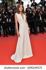 "CANNES, FRANCE. May 13, 2018: Carla Bruni at the gala screening for ""Sink or Swim"" at the 71st Festival de Cannes"
