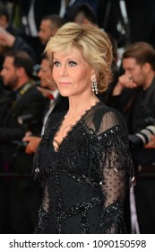 "CANNES, FRANCE. May 13, 2018: Jane Fonda at the gala screening for ""Sink or Swim"" at the 71st Festival de Cannes"