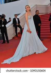 "CANNES, FRANCE. May 13, 2018: Diane Kruger at the gala screening for ""Sink or Swim"" at the 71st Festival de Cannes"