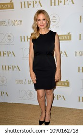 CANNES, FRANCE. May 13, 2018: Kelly Preston at the Hollywood Foreign Press Association Party at Nikki Beach at the 71st Festival de Cannes
