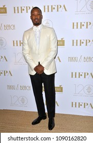 CANNES, FRANCE. May 13, 2018: Corey Hawkins at the Hollywood Foreign Press Association Party at Nikki Beach at the 71st Festival de Cannes