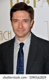 CANNES, FRANCE. May 13, 2018: Topher Grace at the Hollywood Foreign Press Association Party at Nikki Beach at the 71st Festival de Cannes