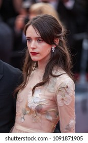 CANNES, FRANCE - MAY 13, 2018:  Stacy Martin attends the screening of 'Sink Or Swim (Le Grand Bain)' during the 71st annual Cannes Film Festival at Palais des Festivals