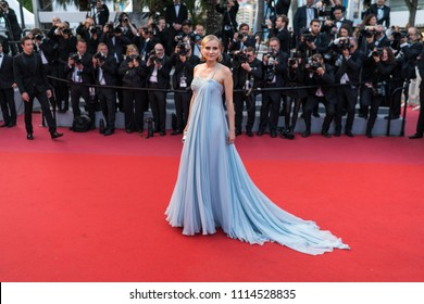 CANNES, FRANCE - MAY 13, 2018: Actress Diane Kruger attends the screening of 'Sink Or Swim (Le Grand Bain)' during the 71st annual Cannes Film Festival at Palais des Festivals