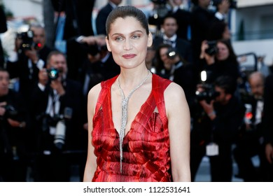 CANNES, FRANCE - MAY 13: Actress Laetitia Casta attends the screening of 'Sink Or Swim' during the 71st Cannes Film Festival on May 13, 2018 in Cannes, France.