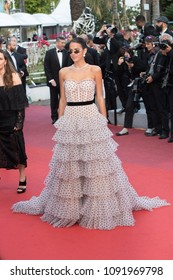 CANNES, FRANCE - MAY 13: Bruna Marquezine attends the screening of 'Sink Or Swim (Le Grand Bain)' during the 71st annual Cannes Film Festival at Palais des Festivals on May 13, 2018 in Cannes, France.