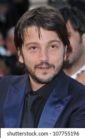 "CANNES, FRANCE - MAY 14, 2010: Diego Luna at the premiere screening of ""Wall Street: Money Never Sleeps"" at the 63rd Festival de Cannes."