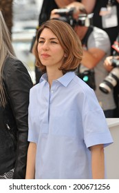 CANNES, FRANCE - MAY 14, 2014: Sofia Coppola at the photocall for the Jury at the 67th Festival de Cannes.