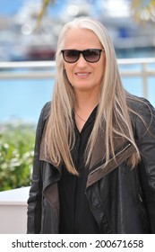 CANNES, FRANCE - MAY 14, 2014: Jane Campion at the photocall for the Jury at the 67th Festival de Cannes.