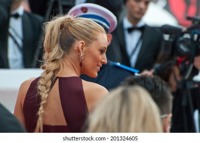 CANNES, FRANCE - MAY 14, 2014: Actress Blake Lively walks down the red carpet during the 67th Annual Cannes Film Festival on May 14, 2014 in Cannes, France.