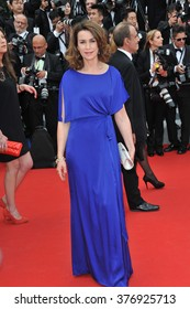 "CANNES, FRANCE - MAY 14, 2014: Valerie Kaprisky at the gala premiere of ""Grace of Monaco"" at the 67th Festival de Cannes."
