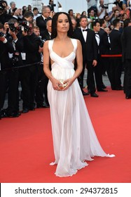 "CANNES, FRANCE - MAY 14, 2015: Zoe Kravitz at the gala premiere of her movie ""Mad Max: Fury Road"" at the 68th Festival de Cannes."