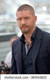 "CANNES, FRANCE - MAY 14, 2015: Tom Hardy at the photocall for his movie ""Mad Max: Fury Road"" at the 68th Festival de Cannes."