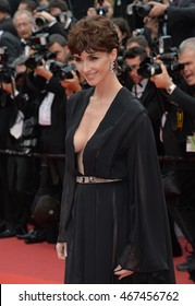 """CANNES, FRANCE - MAY 14, 2016: Actress Paz Vega at the gala premiere for """"The BFG"""" at the 69th Festival de Cannes."""
